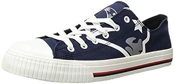 NFL New England Patriots Men s Low Top Big Logo Canvas Footwear Team Color XL / Mens Size 11