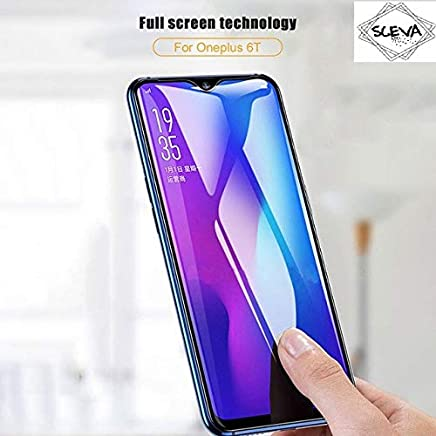 Sceva Present HD Clear Anti Blue Tempered Glass Screen Protector for One Plus 6T (Anti Blue)