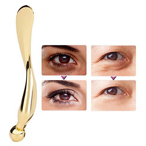 Eye Cream Massage Sticks, Eye Cream Massager Wand Skin Care Massage Tool, Metal Eye Cream Applicator, Massage Wand Stick, Facial Mask Spatula (Gold)