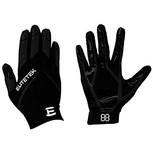 EliteTek RG-14 Football Gloves Youth and Adult (Neon Green, Youth XS)