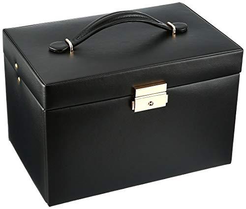 WOLF 280002 Heritage Large Jewelry Box, Black