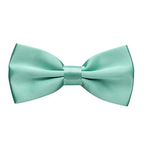 Rusty Bob - Fliege in Uni - Schleife gebunden und verstellbar (12cm x 6,5cm) - für die Hochzeit, die Konfirmation, zum Anzug oder Smoking - Mintgrün