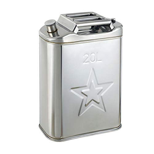 LIYANLCX Lata de Combustible de Repuesto con Boquilla de Metal Universal Botella de Mezcla de Aceite de Gasolina para camión de Coche Calentador de estacionamiento de Aire Diesel