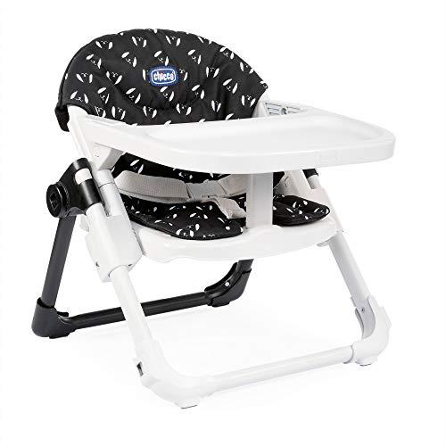 Chicco Chairy - Elevador asiento de silla regulable 4 posiciones, ligero y transportable, 6-36 meses, color azul marino estampado perros (Sweetdog)