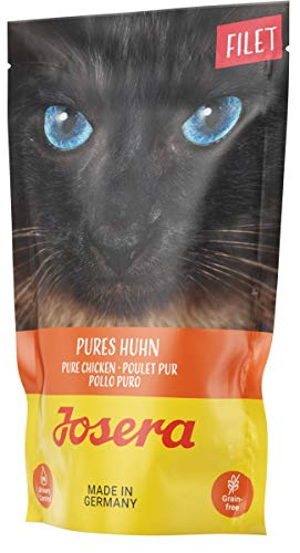 JOSERA Filet Pures Huhn, getreidefreies Katzenfutter mit saftigen Filetstückchen, Super Premium Nassfutter für ausgewachsene Katzen, 16er Pack, (16 x 70 g)