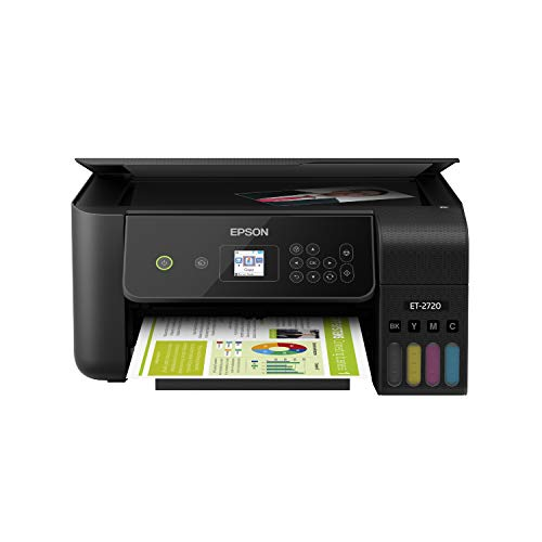 Epson EcoTank ET-2720 Wireless Color All-in-One Supertank Printer with Scanner and Copier - Black...