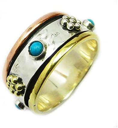 925 Sterling Silver Ring Turquoise shop Gemstone Cabochon S Max 64% OFF
