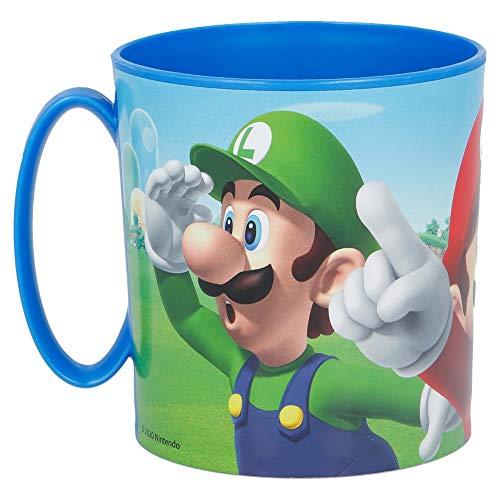 Becher KUNSRSTOFF MIT HENKEL BPA FREI MIKROWELLE GEEIGNET 350 ML | SUPER Mario