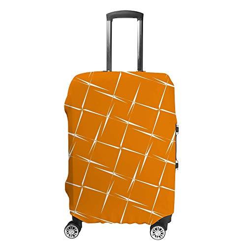 Funda de equipaje gruesa lavable color naranja fondo de poliéster fibra elástica plegable ligero protector de maleta de viaje
