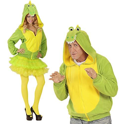 WIDMANN 07028?Adultos Disfraz cocodrilo, Sudadera con Capucha, Verde, tamaño S/M