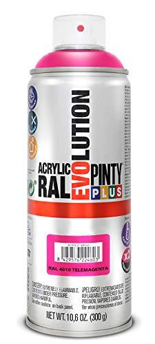 PINTYPLUS EVOLUTION 547 Pintura spray Acrílica Brillo 520cc Telemagenta Ral 4010, Estándar