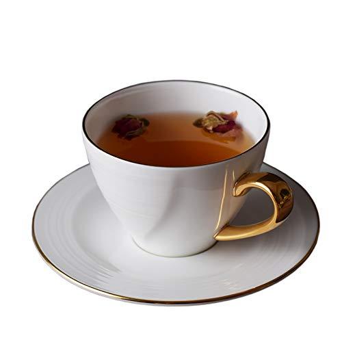 HRDZ Taza y Plato de café de Porcelana China con Personalidad de cerámica Taza Simple Taza de café Taza de té de la Tarde