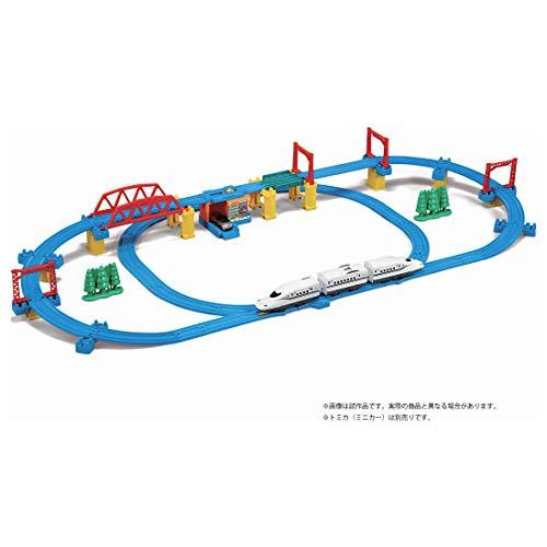 タカラトミープラレール『かっこいいがいっぱい!新幹線N700S確認試験車立体レイアウトセット』