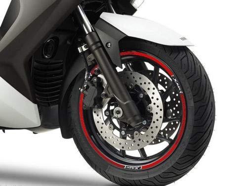 Set Tiras Adhesivo para Ruedas Compatible para Yamaha X MAX Scooter Xmax 125-250 - Rojo