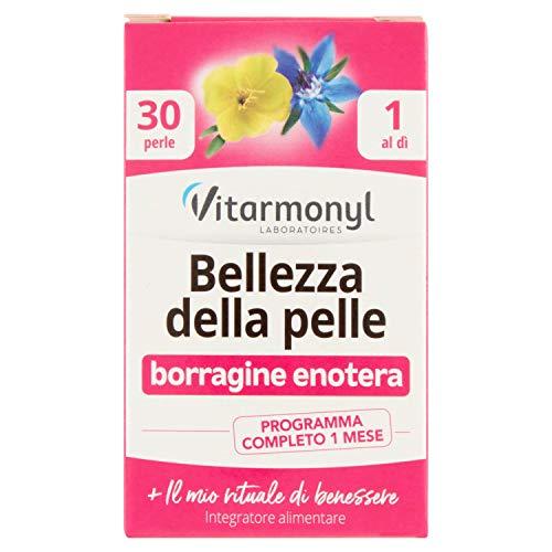 Vitarmonyl BELLEZZA DELLA PELLE  Integratore 30 perle  Borragine Enotera  Programma completo 1 mese  Registrato Ministero Salute Italiano
