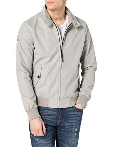 Superdry Men's Iconic Harrington Jacket, Flat Grey, 3XL
