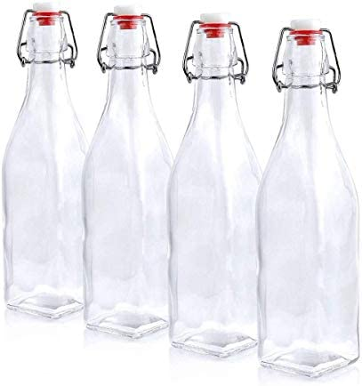 ofmars store 8 5 oz Glass Bottle Airtight Swing Top Seal Storage for Home Brewing of Alcohol product image