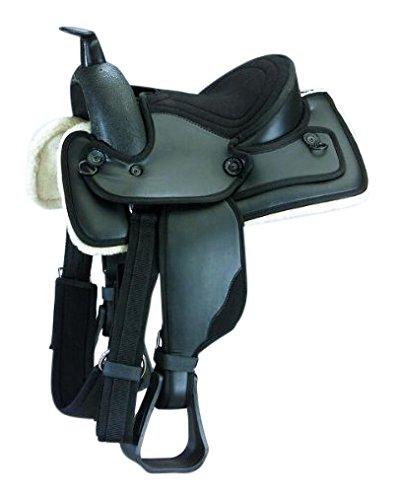 Kincade Redi-Ride Child's Western Saddle, Black, Size 10