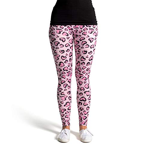 cosey Damen Animalprint Leopardenmuster Leggings, D4, Einheitsgröße