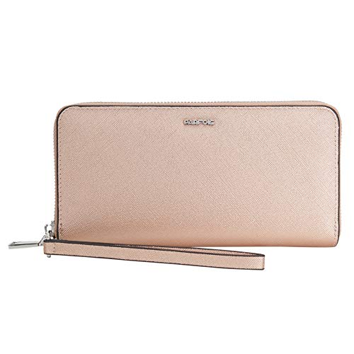 Parfois - Große Brieftasche Mit Handgurt - Damen - Größe L - Gold Rosa