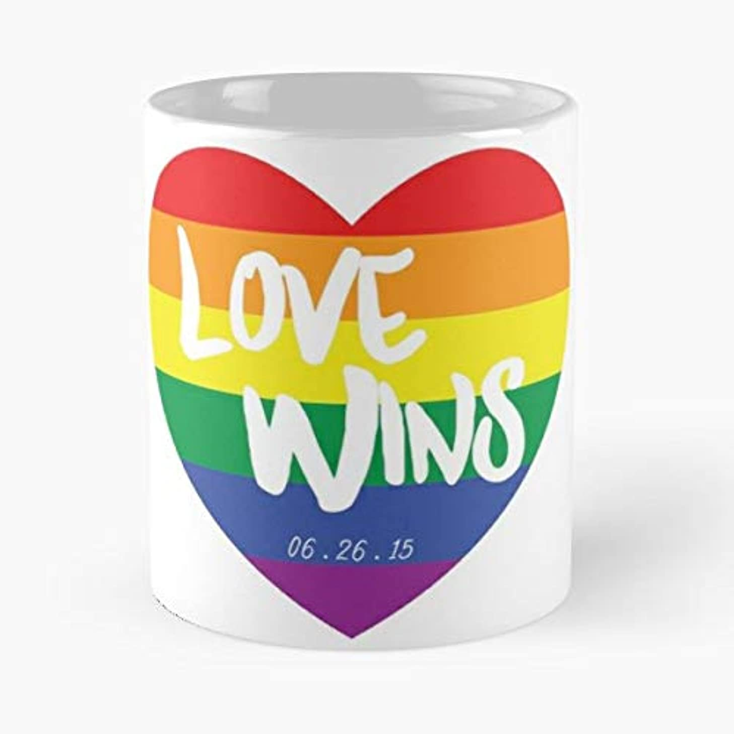 Love Wins Marriage Equality Gay Same Sex - 11 Oz Coffee Mugs Unique Ceramic Novelty Cup, The Best Gift For Holidays.