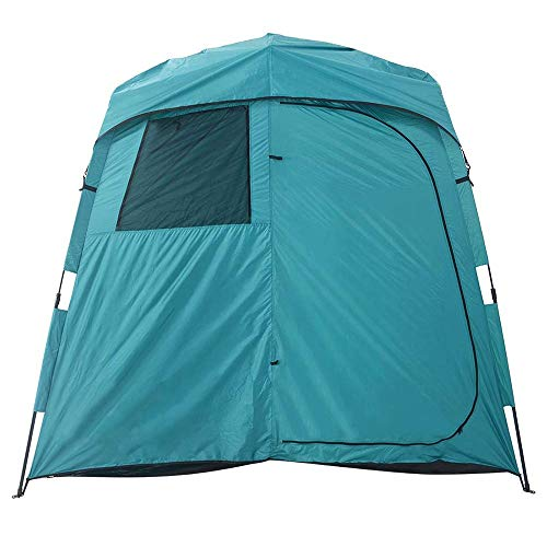 QSCZZ Outdoor Two-Room Shower Tent, with Window Design, Shower And Dressing Dual Functions, Portable Rainproof Privacy Portable Tent (240 X 110 X 200Cm)