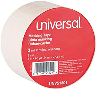"""General Purpose Masking Tape, 24mm x 54.8m, 3"""" Core, 3/Pack 51301 - 1 Each"""