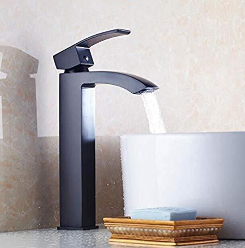 Grifo de Cocina, Grifo del lavabo del baño pintura fría y caliente lavabo negro lavabo negro