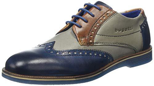 bugatti 3.12647E+11, Scarpe Stringate Derby Uomo, Blu (Dark Blue/Grey 4115), 40 EU