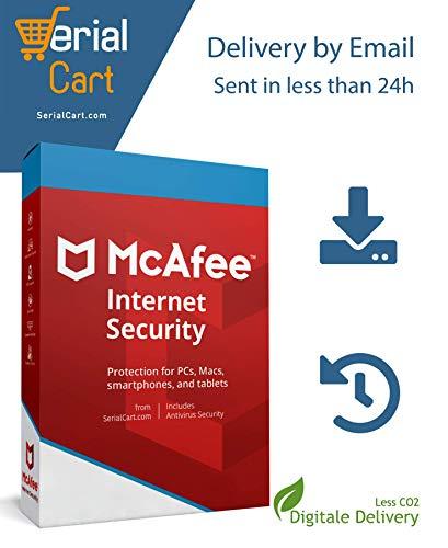 McAfee Internet Security 2020 | Unbegrentze Geräte / 1 Jahr | von SerialCart [Aktivierungscode per Post/Download]