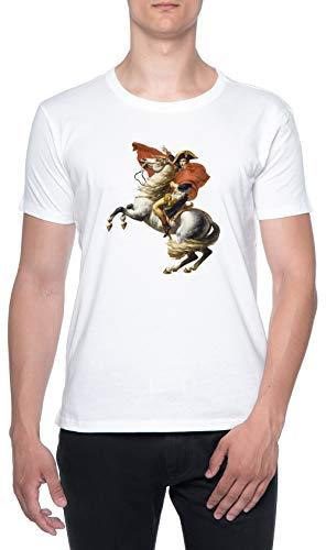 Napoleón En Su Caballo Blanco Hombre Camiseta Mangas Cortas Mens T-Shirt White