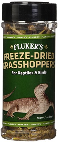 Fluker's 72018 Freeze-Dried Grasshoppers Reptile Food, 1 oz