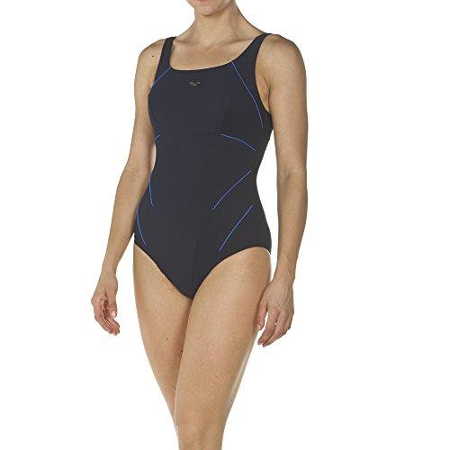 arena Damen Bodylift Badeanzug Jewel B-Cup (Shapingeffekt, Figurformend, Schnelltrocknend, UV-Schutz), Navy-Bright Blue (707), 46