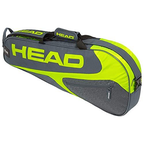 HEAD Unisex– Erwachsene Elite 3R Pro Tennistasche, Grey/neon Yellow, Einheitsgröße