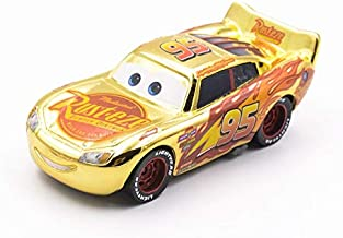 Disney Disney Pixar Cars 3 Metal Diecast Toy Vehicles Gold Color Lightning McQueen Dinoco Cruz Ramirez Car Toy Birthday 1
