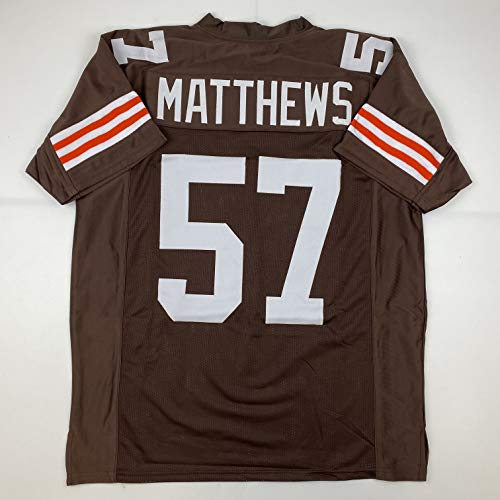 Unsigned Clay Matthews Sr. Cleveland Custom Stitched Brown Football Jersey Size Men's XL New No Brands/Logos