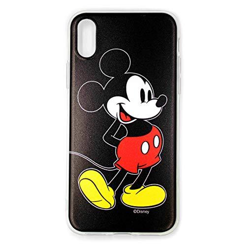 ERT Funda Carcasa teléfono móvil Mickey Mouse Disney para iPhone X/XS - Negro