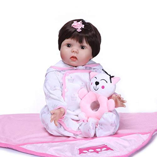 ZIYIUI Realista 28 Pulgadas 70 cm Muñecas Reborn Bebé Reborn Niña Silicona Real los Ojos Abiertos Reborn Doll de Vinilo de Suave Realista Recién Nacido para Niños Mayores de 3 años Juguete