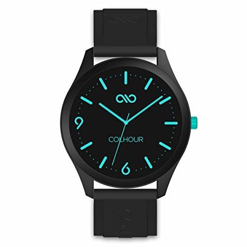 Colhour watches–Orologio da polso unisex con cinturino in silicone, qualità premium, progettato e realizzato in Spagna e con meccanismo giapponese Miyota by Citizen turchese