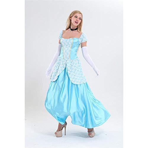 Fnho Vestido Vintage Mujer Medievales,Renacentista Disfraz Medieval para Mujer Vestido,Disfraz de actuacin de Hombro Desnudo Sexy, Disfraz de Corte Medieval-XL