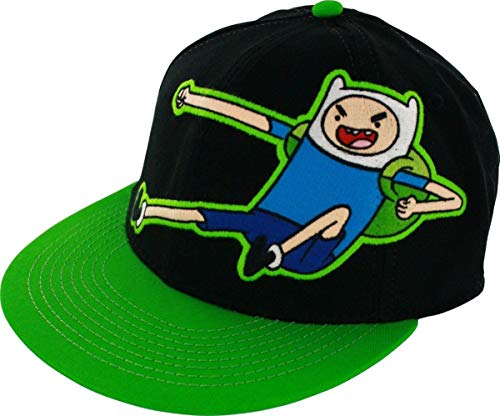 Adventure Time Finn Kick Mens Black Flexfit Baseball Cap Hat