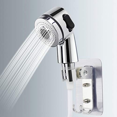 Duschkopf Wasserhahn Duschkopf-Sprühset, Wasserhahn Extender Handbrause Multifunktions-Badezimmerspüler Haarwaschabläufe Waschbeckenanschluss