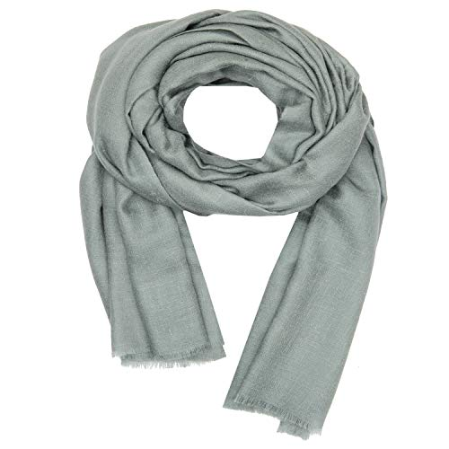 100 Handspun Cashmere Womens Mens Solid Scarf Stole Shawl Kashmir Olive Green
