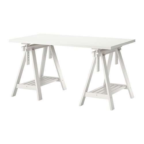 Ikea Linnmon White Desk Table 47x23
