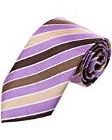 Ties For Party Purple Stripes Neck Tie Silk Touch DAA7A24B Dan Smith Medium Purple,Root Beer,Blanchedalmond