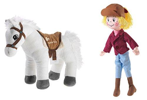 Bibi & Tina 519626 Plüschtier, Set, Puppe, Pferd, bunt, weiß