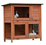 Bunny Business 2 Tier Rabbit Hutch & Run Guinea Pig House Cage