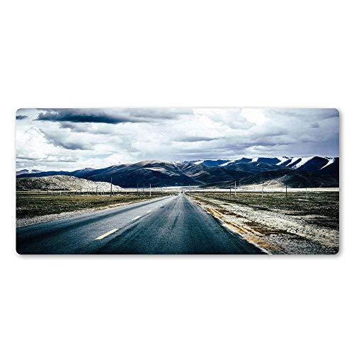 LJUKO Alfombrillas Raton Nubes montañas kilómetros paisaje. 1000x500mm Alfombrilla gruesa de goma antideslizante para ratón, muy grande, para juegos, con diseños, para jugadores y trabajadores de ofic