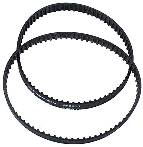 Podoy 814002-1 140XL037 Belt Compatible with Sears Craftsman Disc Sander Toothed 140XL Belts Replace 113226424(Pack of 2)