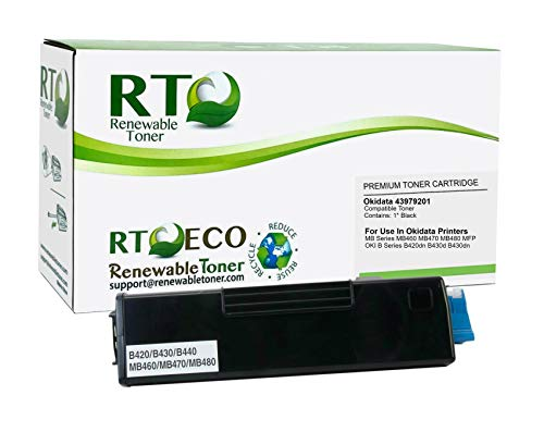 Renewable Toner Compatible Toner Cartridge Replacement for Okidata B420 43979201 MB Series MB460 MB470 MB480 MFP OKI B Series B420 B430